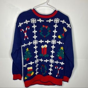 Opportunities vintage ugly Xmas sweater L 80s knit